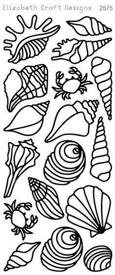 Seashells (sku 2575) from ElizabethCraftDesigns.com