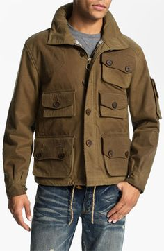 PRPS 'Utility' Waxed Canvas Field Jacket available at #Nordstrom