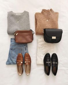 Chic Outfits, Fall Outfits, Fashion Outfits, Womens Fashion, Business Casual Outfits, Outfit Winter, Black Mules Shoes, Loafers Outfit, Brown Oxfords Outfit