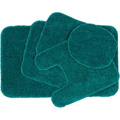 bath rug sets with grey or turquoise options