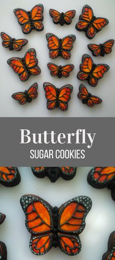 Monarch Butterfly Cookies - One Dozen Decorated Shower / Wedding Cookies #affiliate