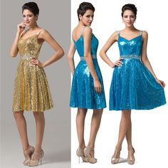 Dance Clubwear Charming Sequins Prom Party Gown Evening Dress 6 8 10 12 14 16 18