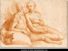 Raphael, A sketch of Cupid and Pysche    Raphael
