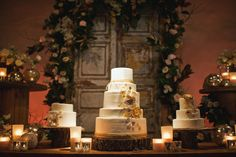 Rancho Las Lomas | Amy & David Wedding 1/7/12 | Sargeant Photography | teatro stage cake dessert display inviting occasion floral cakes
