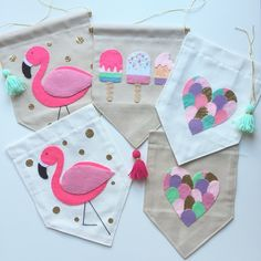 Finishing off some pretty girls banners today!  haven't made the collage heart…