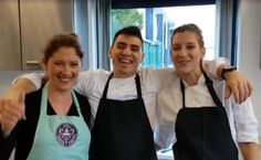 #Athens #Greek dream team chefs Julianna Panos Evi arrive. MELI at #TrinityKitchen #Leeds launch 16 Oct 17 #greekcakes - Our News - Meli Patisserie