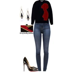 A fashion look from December 2015 featuring Christopher Kane sweatshirts, J Brand jeans and Christian Louboutin pumps. Browse and shop related looks.