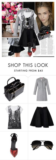 """""""."""" by helga1234 ❤ liked on Polyvore featuring Chanel, Calvin Klein Collection, Fendi, MaxMara, Calvin Klein, MSGM, Giuseppe Zanotti and Ray-Ban"""
