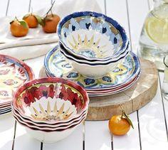 Cabo Melamine Dinnerware, Set of 4 #potterybarn