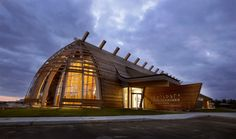 exterior modern project institute canada Contemporary Architecture At Its Best: Cree Cultural Institute in Canada