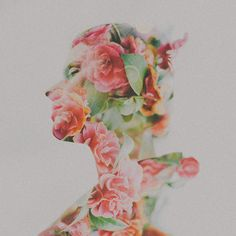Gorgeous idea by Sara K Byme. Floral portrait double exposure. MUST TRY soon