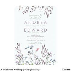 A Wildflower Wedding Card