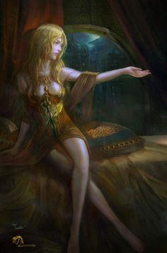 Cersei Lannister ,Game of thrones, A song of ice and fire by Tei Iku TeiIku Cersei Lannister, Daenerys Targaryen, 3d Fantasy, Fantasy Images, Fantasy Women, Medieval Fantasy, Queen Cersei, Eddard Stark, Valar Dohaeris