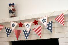 stars and stripes patriotic banner - printable