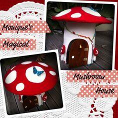 Reader Project - Monique's Magical Felt Mushroom House ~ http://mypoppet.blogspot.co.uk/2011/10/reader-project-moniques-magical-felt.html