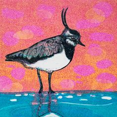 Louise Worthy 'Little Lapwing' Ink Monotype