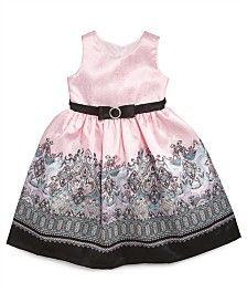 Jayne Copeland Girls Dress, Little Girls Paisley-Print Border Dress