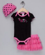 "Baby Essentials Baby Girl (3-24 months) ""Born to Shop"" Skirt Set"