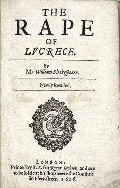The Rape of Lucrece by William Shakespeare.