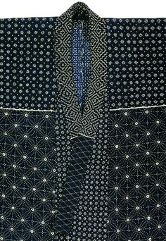 Kimono med både sashiko och shibori