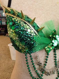 96fe69acc0 Green rave bra Lucky Dragon by Raveology101 on Etsy Rave Outfits