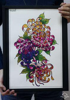 Tattoo разные эскиз - tattoo's photo In the style Differe Chrysanthemum Tattoo, Poppies Tattoo, Japanese Flower Tattoo, Japanese Flowers, Cool Tattoos, Tatoos, Oriental, Japanese Sleeve, Neo Traditional