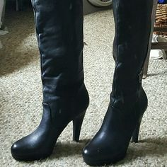 Jessica Simpson Black Boots   Fine Boots! Jessica Simpson Black Boots  Size 9.5  Never worn! Very Nice Boots!  $225 Marked down to $135 Jessica Simpson Shoes Heeled Boots
