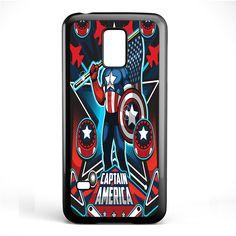 Marvel Pinball Captain America TATUM-6956 Samsung Phonecase Cover Samsung Galaxy S3 Mini Galaxy S4 Mini Galaxy S5 Mini