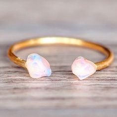RESTOCKED || Gold Little Raw Opal Ring || Available in our 'Mermaid' Collection || www.indieandharper.com