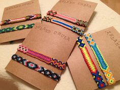 Friendship Bracelet Set / Stack / BFF / Couple/Neon by IslandChula, $16.50