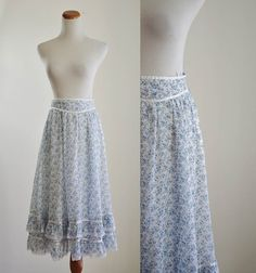 I need a prairie skirt to ruffle over my lace-up boots.