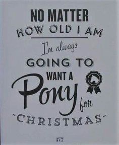 Never too old for a pony