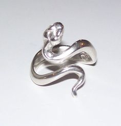 SNAKE Ouroboros Ring in .925 Sterling SILVER - Serpent Power Snake Mother Adjustable Ring - Made in USA
