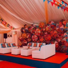 Mehndi Decor, Mehendi, Colorful Umbrellas, Telugu Wedding, South Indian Weddings, Backdrop Design, Wedding Sutra, Indian Wedding Decorations, Backdrops