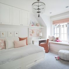 Girls teen and tween bedrooms  #teenandtweensbedrooms #windowseat