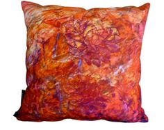 Fragrance of Hope: Cushion | Handmade | Painting Design | Throw pillow