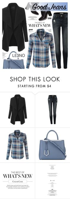 """""""Get the Look: High-Waisted Jeans LE3NO"""" by anyasdesigns ❤ liked on Polyvore featuring LE3NO, Pierre Hardy, Fendi and StyleNanda"""