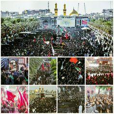 وكأن العالم كله بنو اسد يتهافتون على كربلاء لدفن الاجساد الطاهرة #13Muharram1438