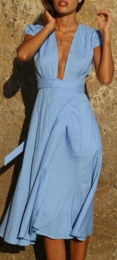 This sky blue wrap dress is exactly what I was looking for.
