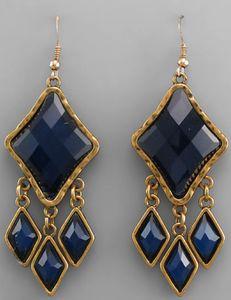 Felicity Earrings - Blue