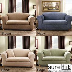 @Overstock - Add color and texture to your room with this new Stripe sofa slipcover from Sure Fit. With a subtle stripe design, this two-piece separate seat cover allows a custom look while the stretch fabric offers the perfect solution for shaped furniture.http://www.overstock.com/Home-Garden/Sure-Fit-Stretch-Stripe-2-piece-Sofa-Slipcover/5123876/product.html?CID=214117 $94.99