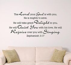 Bible Verse Wall Art Zephaniah 317  mighty to by SignGuysAndGal, $22.00  LOVE LOVE LOVE it!