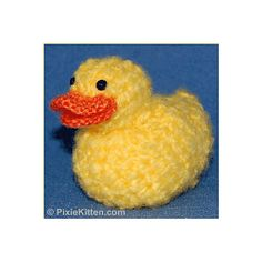 This is the Free Pattern for this adorable Rubber Duckie.