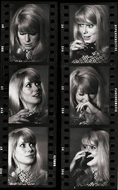 Catherine Deneuve on the set of Repulsion, 1964.