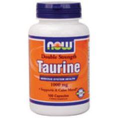 Незаменима аминокиселина Now - Taurine 1000 мг - 100 капсули | Аминокиселини NOW | MaxLife
