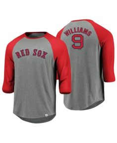 708e4bbef Majestic Men s Ted Williams Boston Red Sox So Much Extra Player Raglan T- Shirt - Gray S