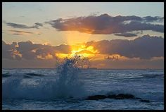Sunrise at uMdhloti Beach Durban - South Africa