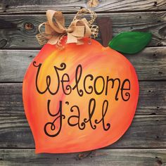 Peach Door Hanger, Georgia Peach, Georgia, Peach, Southern Door Hanger, Front Door, Georgia on my Mind by jgcreationsbyjg on Etsy https://www.etsy.com/listing/228124598/peach-door-hanger-georgia-peach-georgia