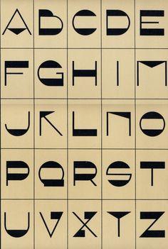 Lettres Art Déco (1930 v.) — signes
