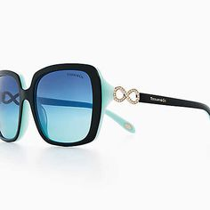 88370c0f14e7 Tiffany Infinity square sunglasses in black and Tiffany Blue® acetate.  Infinity Jewelry